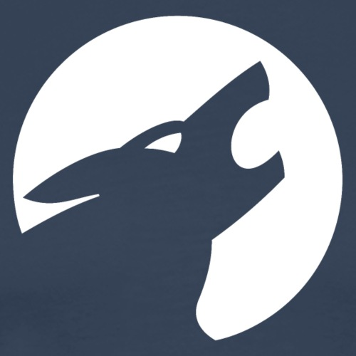 Werwolf Logo weiß - Männer Premium T-Shirt