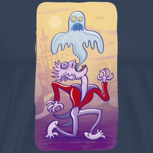 Horrific vampire expelling spooky ghost - Men's Premium T-Shirt