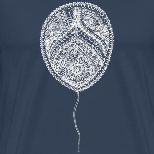 Luftballon Mandala weiß, Balloon Mandala - Männer Premium T-Shirt