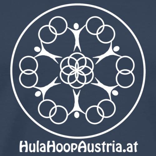 Hula Hoop Austria Logo White - Männer Premium T-Shirt