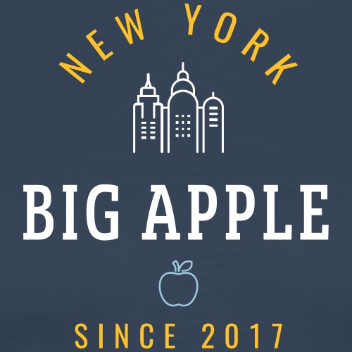 NEW YORK - BIG APPLE - Maglietta Premium da uomo