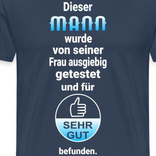 Ehemann Sehr Gut Siegel Männergeschenk - Männer Premium T-Shirt