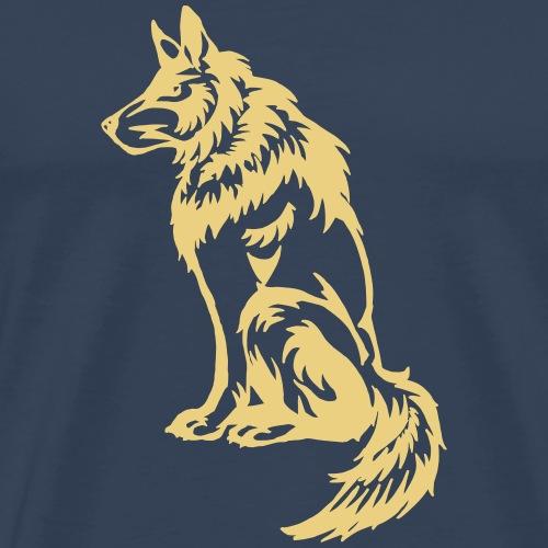 Wachhund Wolf Pelz Geschenk Wuff Tribal Indianer - Men's Premium T-Shirt