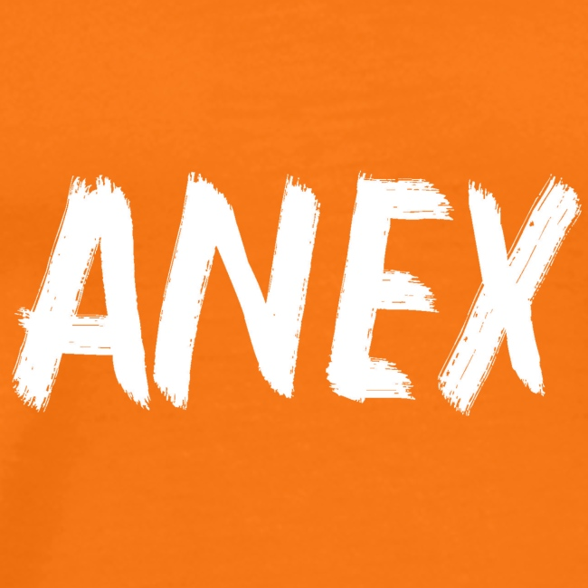 V-neck T-Shirt Anex white logo
