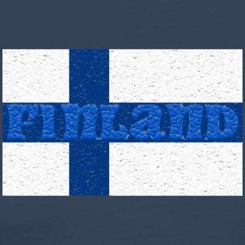 Finland flag - Men's Premium T-Shirt