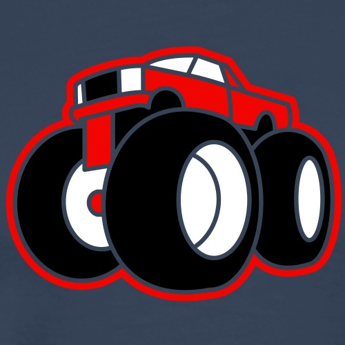 3 col - Extreme Monster Truck Sport Hot Cars - Männer Premium T-Shirt