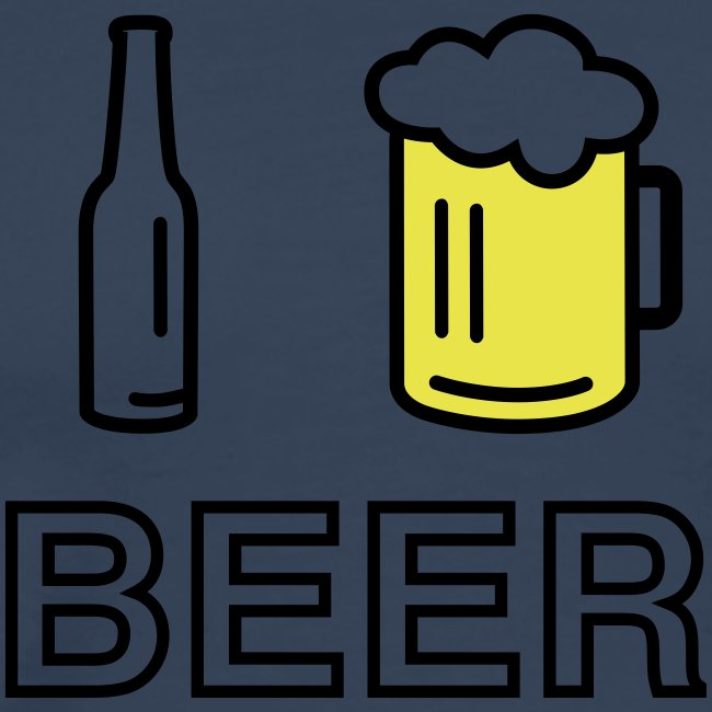 I Love Beer (2-farbig)