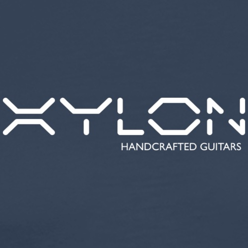 Xylon Handcrafted Guitars (name only logo white) - Men's Premium T-Shirt