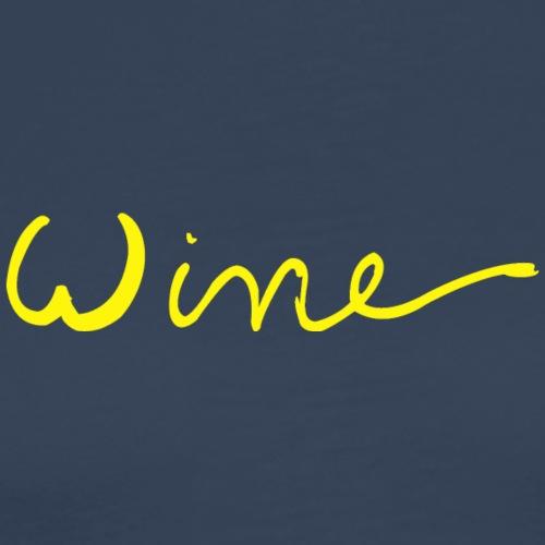 Wine art logo GEEL - Mannen Premium T-shirt