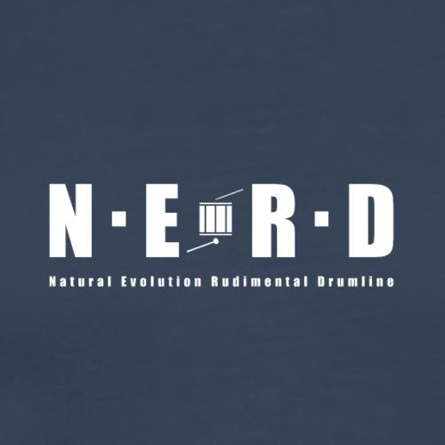 NERD WHITE - Herre premium T-shirt