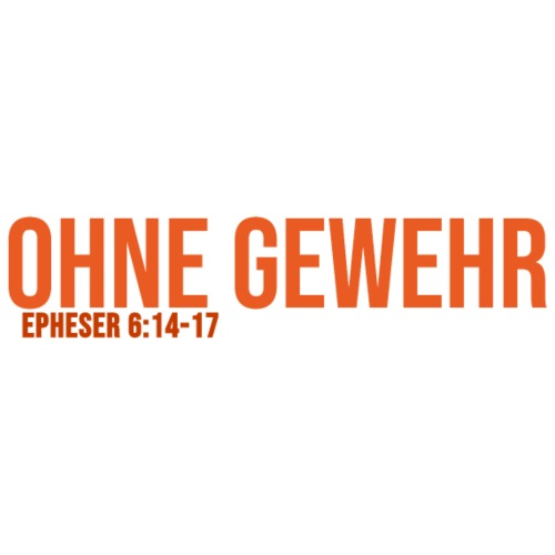 OHNE GEWEHR - Print in orange