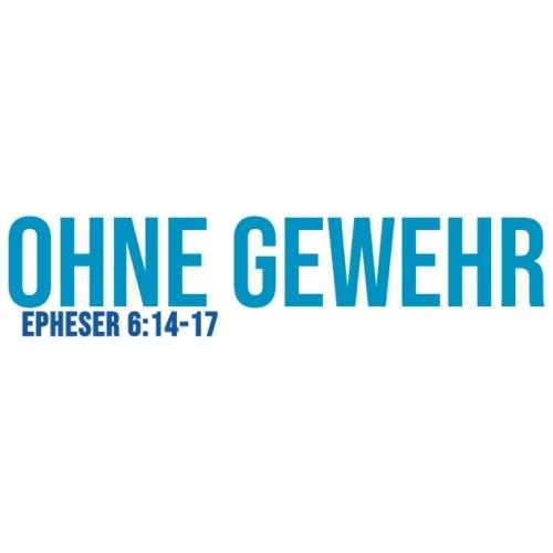 OHNE GEWEHR - Print in blau