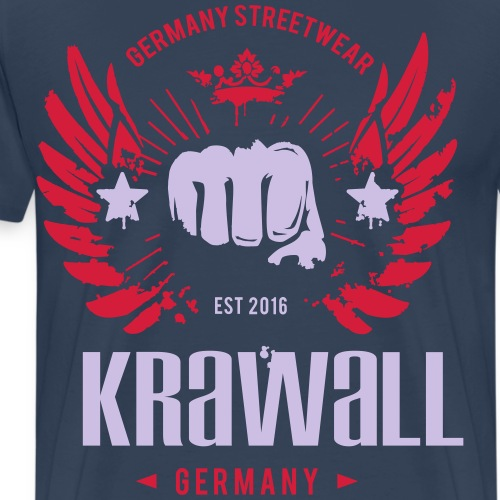 Krawall Logo - Männer Premium T-Shirt