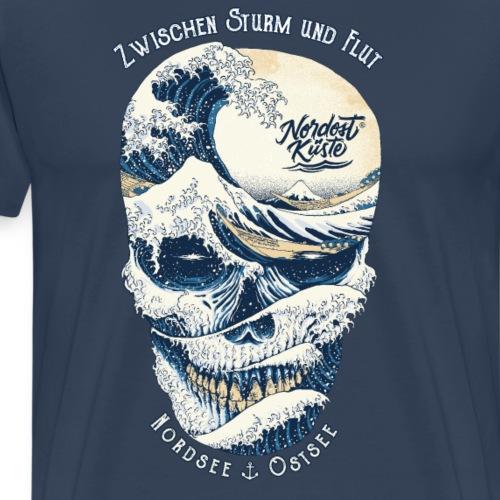 Wave of Skull - Männer Premium T-Shirt