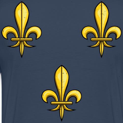 3 Fleurs de Lys - T-shirt Premium Homme