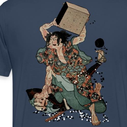 Sato Tadanobu with a goban - Mannen Premium T-shirt