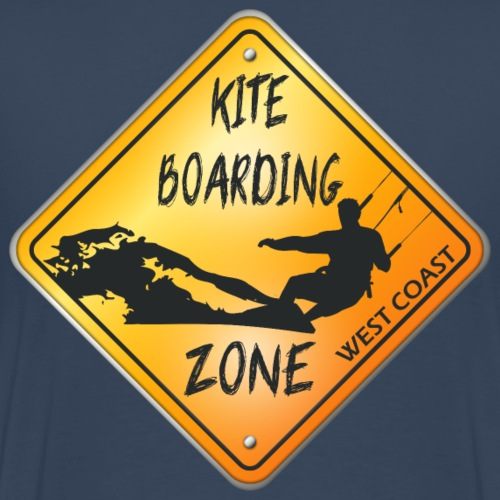 KITEBOARDING ZONE WEST COAST - T-shirt Premium Homme