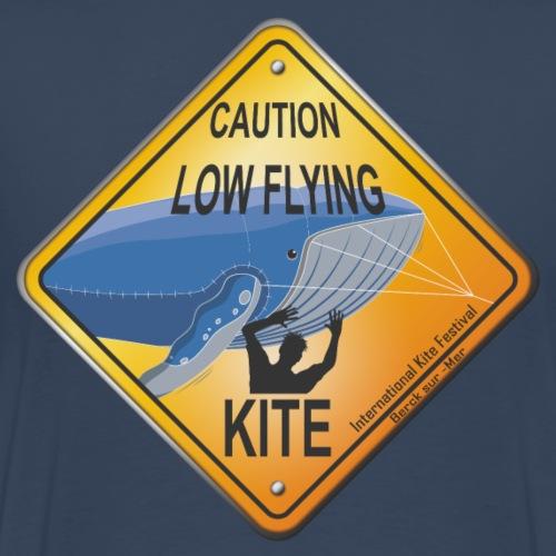 Roadsign Attention cerf-volant à basse altitude - T-shirt Premium Homme