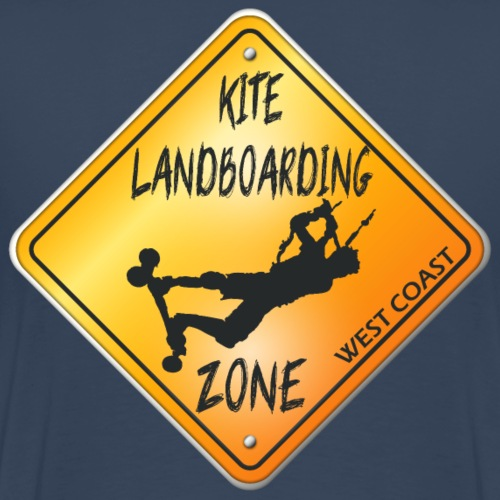 KITE LANDBOARDING ZONE WEST COAST - T-shirt Premium Homme