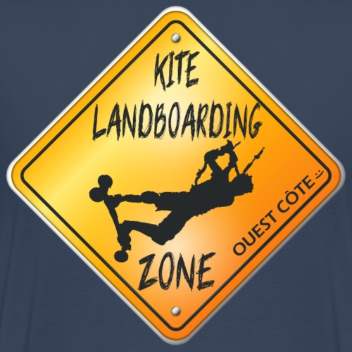 KITE LANDBOARDING ZONE OUEST CÔTE - T-shirt Premium Homme