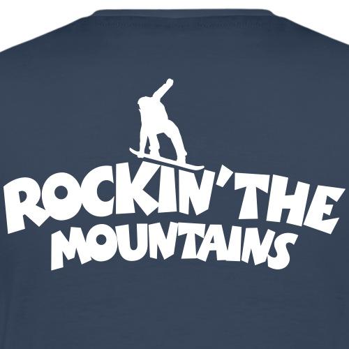 Rockin the Mountains Snowboard Snowboarding - Männer Premium T-Shirt