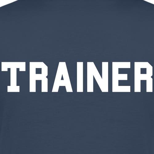 Trainer Schriftzug - Männer Premium T-Shirt