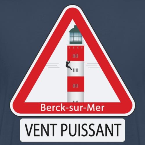 Berck sur mer :Vent puissant I - T-shirt Premium Homme