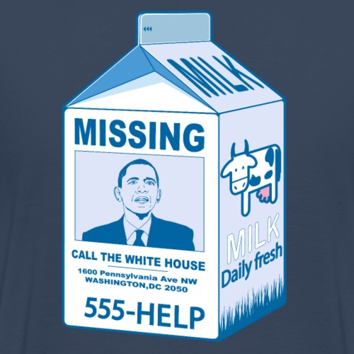 Missing: Barack Obama - T-shirt Premium Homme
