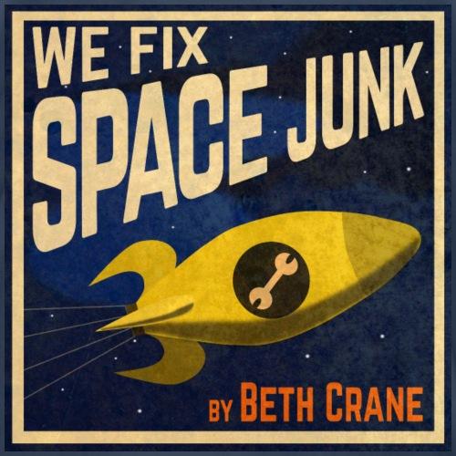 We Fix Space Junk logo (square) - Men's Premium T-Shirt