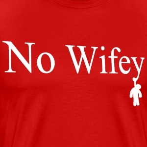 No wifey Hangman White - Men's Premium T-Shirt