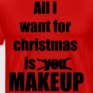 Christmas song award makeup makeup - Men's Premium T-Shirt