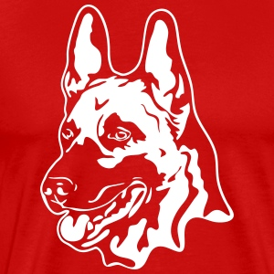 MALINOIS PORTRAIT - Men's Premium T-Shirt