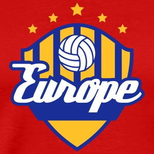 Fotboll Crest Of Europe - Premium-T-shirt herr
