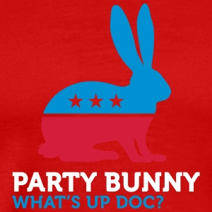 Political Party Animals: Bunny - Men's Premium T-Shirt