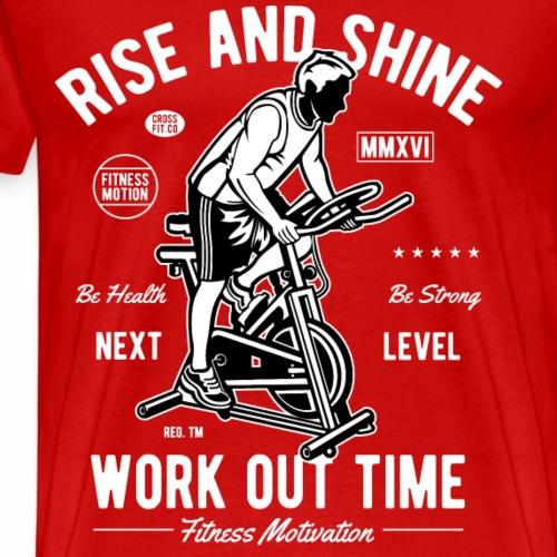 WORKOUT TIME - Workout Fitness Crossfit Shirt - Männer Premium T-Shirt