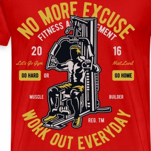 2016 NEXT LEVEL- Workout Training Fitness Geschenk - Männer Premium T-Shirt