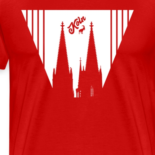 Kölner Dom Spitzen - Männer Premium T-Shirt