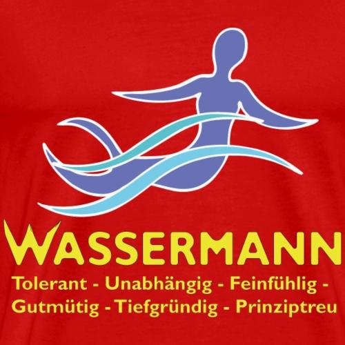 Wassermann 3 farbig - Männer Premium T-Shirt