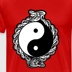 "YING-YANG ""COBRA SPIRIT"" COLOR VERSION - Men's Premium T-Shirt"