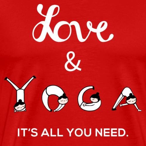 Yoga Liebe Hobby Mindful Geschenk - Männer Premium T-Shirt