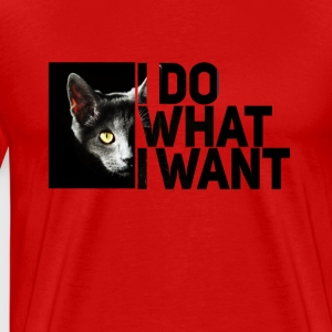 cat cat photo black typo what I want facebook Statem - Men's Premium T-Shirt