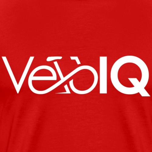 VeloIQ Logo T-Shirt - white - Men's Premium T-Shirt