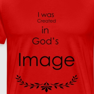 I was created in god's Image - Men's Premium T-Shirt