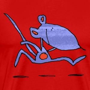 muis op de loop - Mannen Premium T-shirt