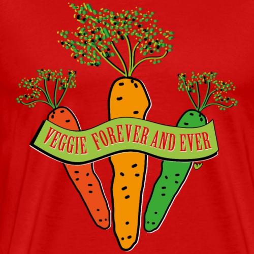 Veggie forever and ever ... - Männer Premium T-Shirt