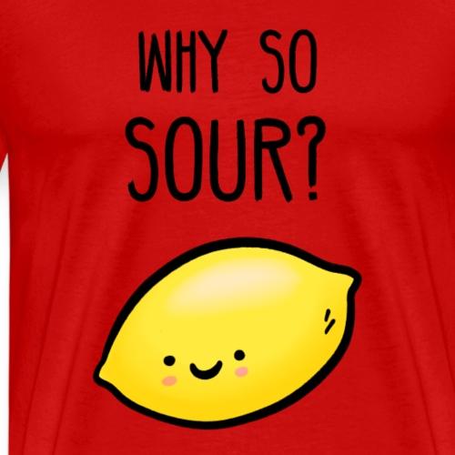 Zitrone Frucht lustiger Spruch Illustration - Männer Premium T-Shirt