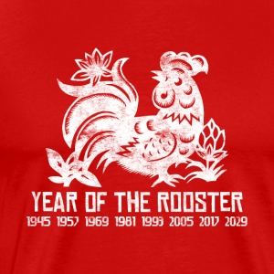 Years of the Chinese Rooster - Men's Premium T-Shirt