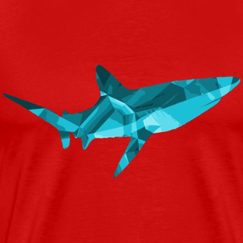 Blue Diamond Shark - Men's Premium T-Shirt