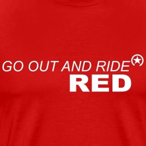 jeździć czerwonym - Koszulka męska Premium