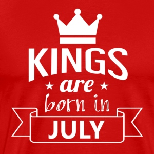 Kings were born in JULY - Men's Premium T-Shirt